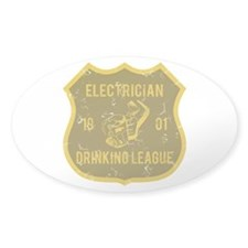 Electrician Drinking League Oval Decal
