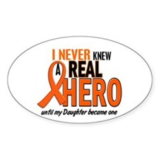 Never Knew A Hero 2 ORANGE (Daughter) Decal