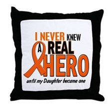 Never Knew A Hero 2 ORANGE (Daughter) Throw Pillow