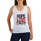 Lung Cancer HopeLoveFaith Women's Tank Top
