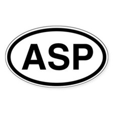 ASP Oval Decal