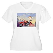 Viva Biker Chic Plus Size T-Shirt