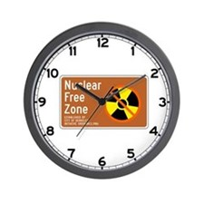 Nuclear Free Zone, USA Wall Clock