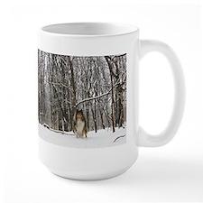 Collie in Winter Mug