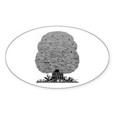 Heavy Metal Oval Decal