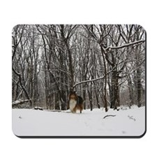Collie in Winter Mousepad
