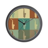 Saxophone Pop Art Wall Clock