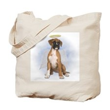 Angel Boxer Puppy Tote Bag