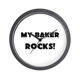 MY Baker ROCKS! Wall Clock
