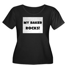 MY Baker ROCKS! Women's Plus Size Scoop Neck Dark