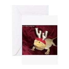 Reindeer Beardie 2 Greeting Card