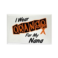 I Wear Orange For My Nana 8 Rectangle Magnet