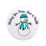Christmas Snowman PCOS 3.5&quot; Button (100 pack)