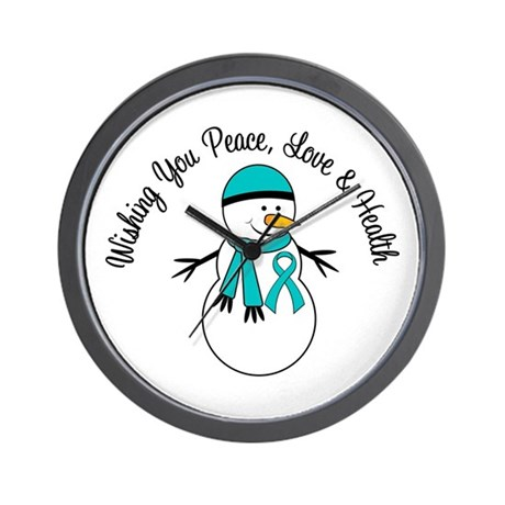 Christmas Snowman PCOS Wall Clock
