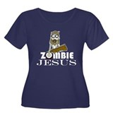 Zombie Jesus Women's Plus Size Scoop Neck Dark T-S