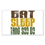 Eat Sleep Tang Soo Do Rectangle Sticker