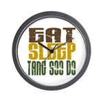 Eat Sleep Tang Soo Do Wall Clock