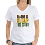 Eat Sleep Tang Soo Do Women's V-Neck T-Shirt