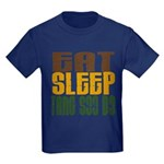 Eat Sleep Tang Soo Do Kids Dark T-Shirt