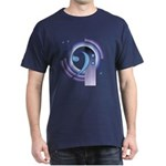 Bass Clef Deco2 Dark T-Shirt