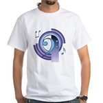 Bass Clef Deco2 White T-Shirt