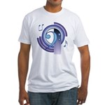 Bass Clef Deco2 Fitted T-Shirt