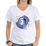 Bass Clef Deco2 Women's V-Neck T-Shirt