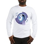Bass Clef Deco2 Long Sleeve T-Shirt