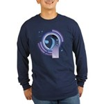 Bass Clef Deco2 Long Sleeve Dark T-Shirt
