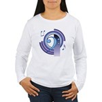 Bass Clef Deco2 Women's Long Sleeve T-Shirt