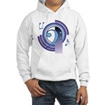 Bass Clef Deco2 Hooded Sweatshirt