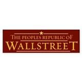 People's Republic of Wallstreet Bumper Sticker