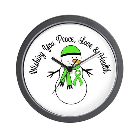 Christmas Snowman Lymphoma Wall Clock