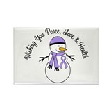 Christmas Snowman Cancer Rectangle Magnet (100 pac