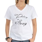 Vocabulary is Sexy Women's V-Neck T-Shirt