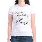 Vocabulary is Sexy Jr. Ringer T-Shirt