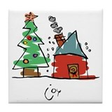 Christmas Tile Coaster