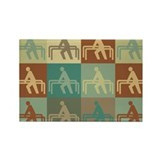 Physical Therapy Pop Art Rectangle Magnet (100 pac