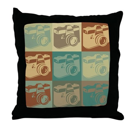 Photography Pop Art Throw Pillow