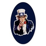 Uncle Sam Oval Decal