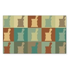 Pharmacology Pop Art Rectangle Sticker 10 pk)