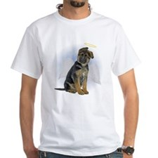 Angel German Shepherd Puppy White T-Shirt
