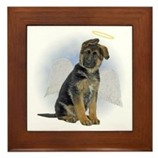 Angel German Shepherd Puppy Framed Tile