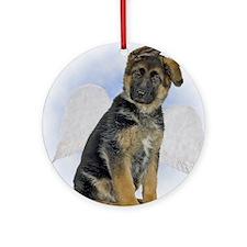 Angel German Shepherd Puppy Ornament (Round)