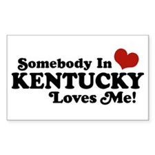 Somebody In Kentucky Loves Me Rectangle Decal