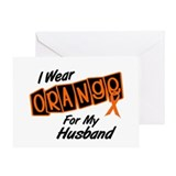 I Wear Orange For My Husband 8 Greeting Card