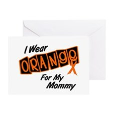 I Wear Orange For My Mommy 8 Greeting Card