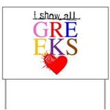 Greek Love 1 Yard Sign