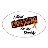 I Wear Orange For My Daddy 8 Oval Decal