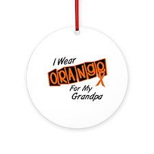 I Wear Orange For My Grandpa 8 Ornament (Round)